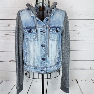 American Eagle Outfitters Distressed Denim Hoodie